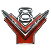 Emblem V8 front fender 55-56 Ford  BM-16...