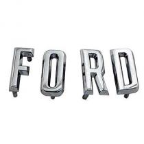 Script hood letters 57 Ford  B7A-16606-S...