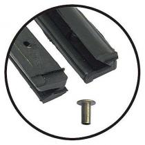 Vent Window Back Edge Seals 55-56 (sedan...