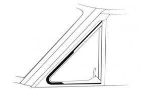 Vent Window Seals 60-65 Falcon  CODB-642...