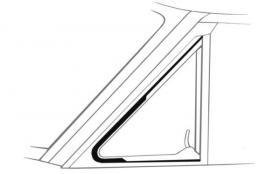 Vent Window Seals 62-65 Falcon ---------...