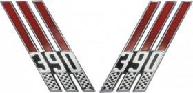 Emblem front fender 66-7  C6AZ-16228-BE