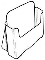 A4-Single Pocket, Free-Standing, Low Bac...