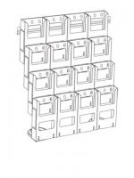 DLE x 16, 4 tier x 4 wide with Wall Moun...