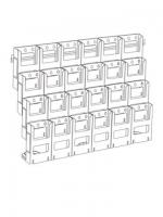DLE x 24, 4 tier x 6 wide with Wall Moun...