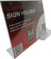 A4 Landscape Menu Holder, slanted sign, ...