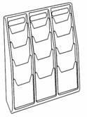 DLE 12 pocket, Free standing/ wall mount...